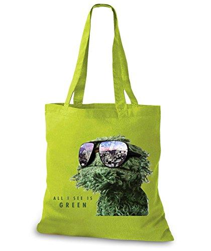 StyloBags Jutebeutel / Tasche All I See is green Kiwi