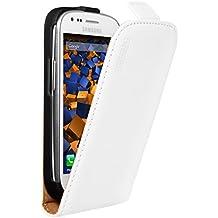 Mumbi - Funda de cuero con tapa para Samsung Galaxy S3 mini, color blanco