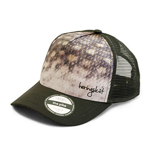 heringsküt Angel Cap I Basecap für Angler Snapback Anglerkappe Unisex I One Size 56 cm – 62 cm, Motiv benetzter Hecht