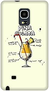 The Racoon Lean Cream Pina Colada hard plastic printed back case / cover for Samsung Galaxy Note Edge