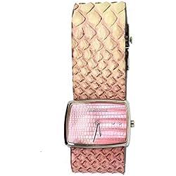 Roberto Cavalli Reloj mujer piel serpiente rosa 7251105545