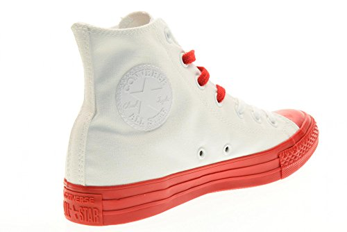 Converse - 156765C CT AS HI Canvas Color Rubber, sneakers unisex, White/Casino Bianco-rosso
