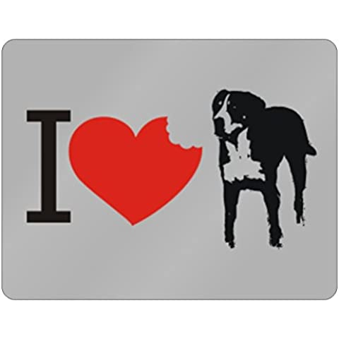 Teeburon I love Greater Swiss Mountain Dog SIlhouette Horizontal Sign