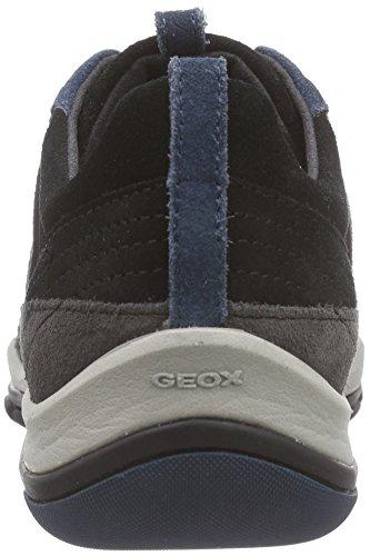 Geox - D Kander B, Scarpe da ginnastica Donna Nero (Schwarz (C9270BLACK/ANTHRACITE))