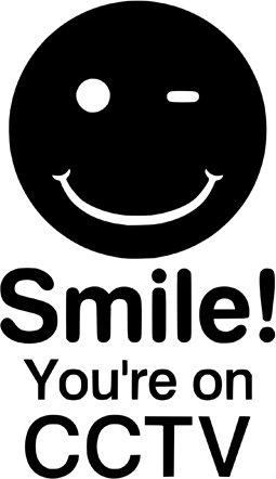 Smile. Vous êtes sur carte vidéosurveillance Track Racing voiture Symbole Coque bumper Sticker Sticker Van Vélo Free P & P