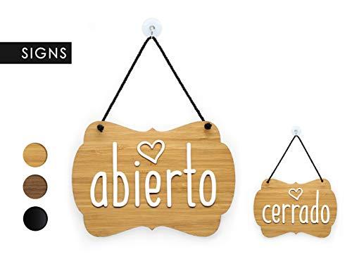 3DP Signs | Shabby Chic Decor - Abierto Cerrado -