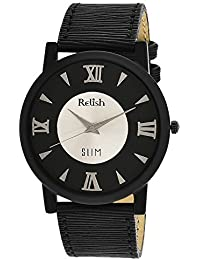 RELISH RE-S8014BB SLIM Black Dial Analog Watch For Mens & Boys