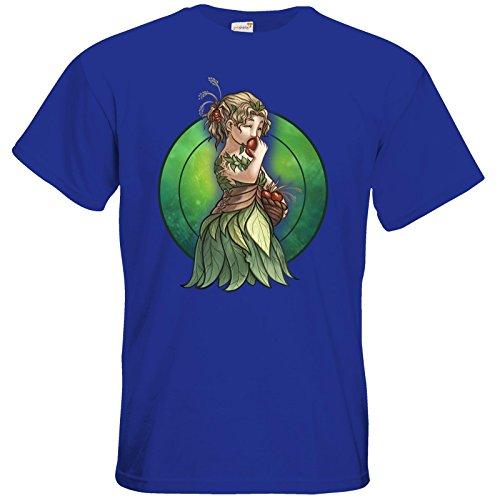 getshirts - Das Schwarze Auge - T-Shirt - Götter - Peraine - Chibi Royal Blue