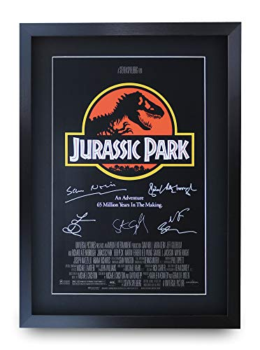 HWC Trading Jurassic Park A3 Gerahmte Signiert Gedruckt Autogramme Bild Druck-Fotoanzeige Geschenk Für Filmfans