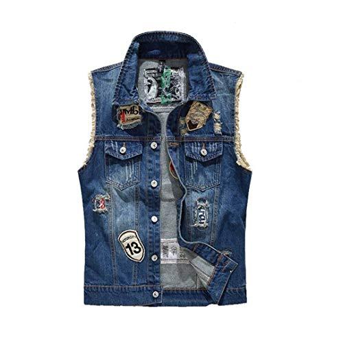 Betrothales giacca jeans uomo maniche giubbotto jeans fit slim toppe parka gilet gilet cappotto corto autunno vintage marca strappati moto senza risvolto giacche con progettista