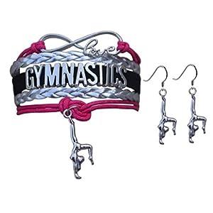 Gymnastik Jewelry Set-Mädchen Gymnastik Armband & Gymnastikreifen Ohrringe–perfekte Geschenk für Turnerin