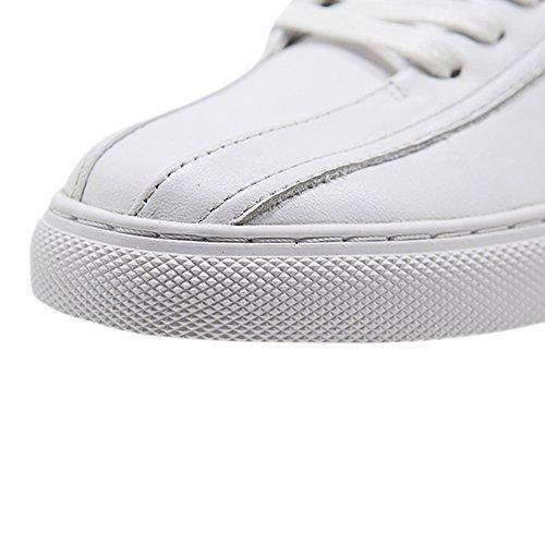AiJiaEr®Chaussures Multisport Outdoor Femme Sneakers Basses Mixte Ddulte Tendances De La Mode Chaussures De Sport Basket Vêtements Femmes Temps Libres2051 Blanc