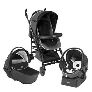 chicco trio living smart stroller black color amazon. Black Bedroom Furniture Sets. Home Design Ideas