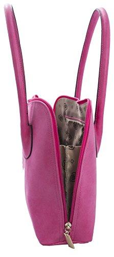 Big Handbag Shop - Borsa a tracolla donna (arancione)