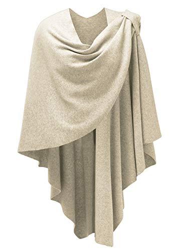PULI Damen Sweatshirt Strickschal Poncho Decke Cape Cardigan Wickelschal One Size