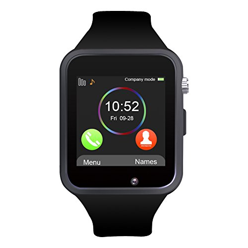 Bluetooth Smartwatch, Jukkarri Armbanduhr mit Sim Card Slot GSM Sport Watch Activity Tracker Armbanduhr für Android / IOS Smartphones (Uhr-handy Android Gsm)
