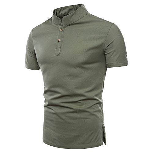 T-Shirt Herren Kurzarm Rundkragen 3D gedruckt Sommer Herren Persönlichkeit Tops,Herren Stehkragen Slim T-Shirt Army Green XL (Salz Des Lebens T-shirt)