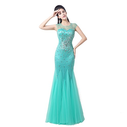 Bridal_Mall - Robe - Sans Manche - Femme Vert