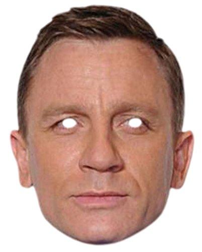 Preisvergleich Produktbild Halloweenia - Erwachsenen Daniel Craig Karneval Faschingsmaske,  Mehrfarbig