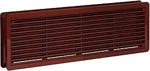 """Porte Grille de ventilation 400x130mm Recto-verso Ventilation """" marron """" Couverture Haute Qualité ASA plastique"""