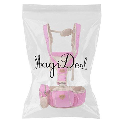 MagiDeal Ergonomischer Baby und Kindertrage die leichte Bauch und Hüfttrage (0-20KG, 3-36 Monate) Rose Rot