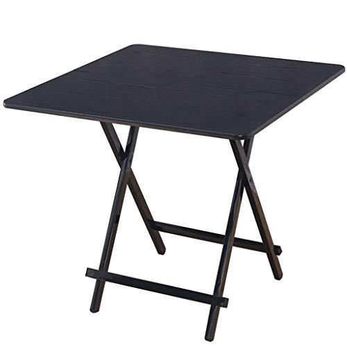 NJ Table Pliante- Table carrée Se Pliante multifonctionnelle de ménage, Petite Table à Manger de ménage (Couleur : Noir, Taille : 60x60x55cm)