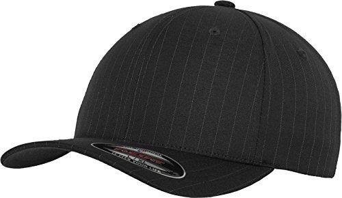 Flexfit Erwachsene Mütze Pinstripe, Darkgrey/Wht, L/XL Mid-profile-6-panel -