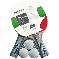 Tunturi Racquet_Sport's Match Table Tennis Set Bats and Balls-Multicoloured, One Size