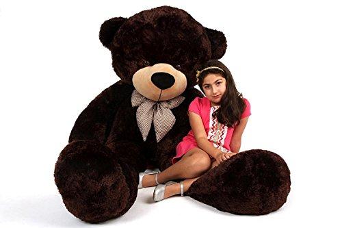 ToyHub 6 Feet Stuffed Teddy Bear (Chocolate, 180 cm)