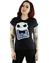 Disney Femme Nightmare Before Christmas Jack Skellington Scary Face T-Shirt XX-Large Noir