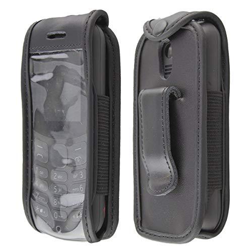 caseroxx clip da cintura custodia per Nokia 130 (2017) cover in vera pelle, copertura con finestrina protettiva e clip