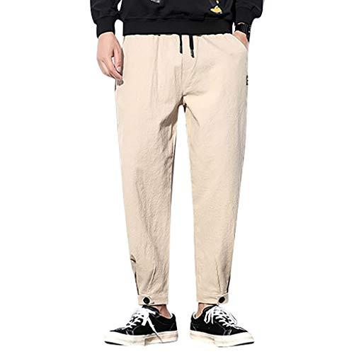 LianMengMVP Uomo Chino Jogging Casual Pantaloni Slim Fit Pantaloni Uomo Lunghi Cargo con Coulisse Tasche Laterali Trousers della di Sport Pants Elastici Casual Maschi
