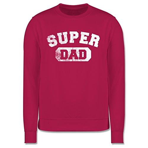 Vatertag - Super Dad - Vintage-&Collegestil - Herren Premium Pullover Fuchsia