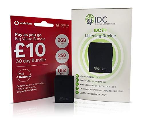 IDC Él1 seguimiento escuchar dispositivo espía La Él1 es la última tecnología de IDC. Todo lo que hacemos es insertar una tarjeta sim de móvil en el aparato y llame a Él1 para escuchar en el vivo conversaciones o sonidos donde colocar el dispositivo....