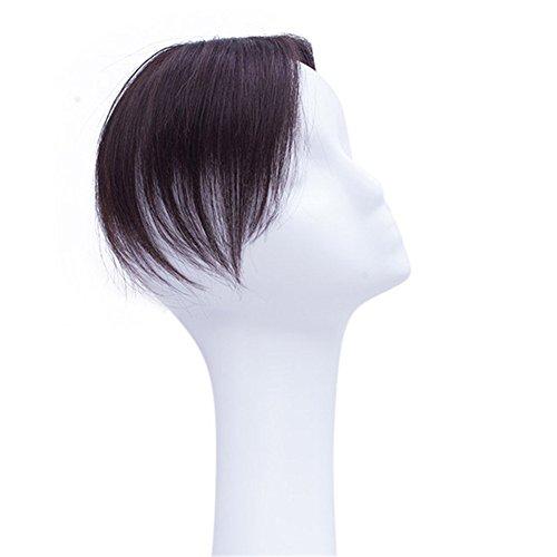 Remeehi Haarteil aus Echthaar, nahtlos, handgefertigt, Spitze, zum Anklipsen
