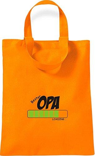ShirtInStyle kleine Baumwolltasche BESTER OPA Loading Farbe Rot orange