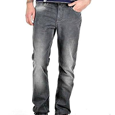 Adidas Originals Mens Grey Slim Fit Jeans Cotton Denims