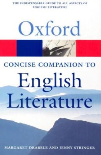 The Concise Oxford Companion To English Literature (Oxford Paperback Reference) (Oxford Quick Reference)