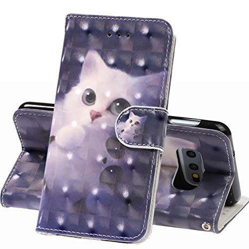 SOONSOP Cover für Samsung Galaxy S10E Hülle, Handyhülle Samsung Galaxy S10 Lite Flip Case PU Lederhülle Schutzhülle Magnetverschluss Ledertasche mit Stander Function Brieftasche in Süße Katze (Samsung Lite-tablet-fällen)