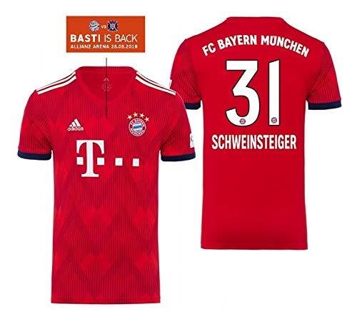 FCB Trikot Kinder 2018-2019 Home - Schweinsteiger 31 (164)
