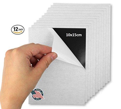 Hojas magnéticas adhesivas flexibles - 10 x 15 cm