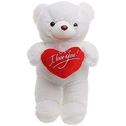 Regalo para Día de San Valentín - Osito de Peluche con Sensación de Felpa Suave - Oso de Juguete Grande 45cm - Teddy Tierno y Romántico para Pareja, Enamorados, y Ocasiones Especiales
