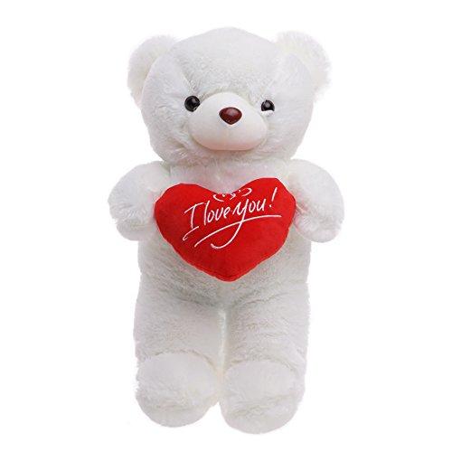 Peluche teddy bear di san valentino di 45cm - peluche morbido e coccolone - regalo romantico ideale per la persona amata