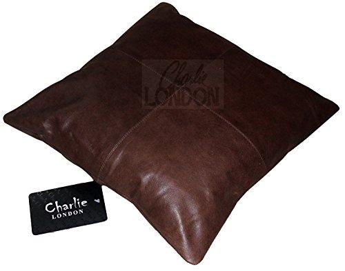 2x genuine 100% pelle vintage divano cuscini home decor charlie london