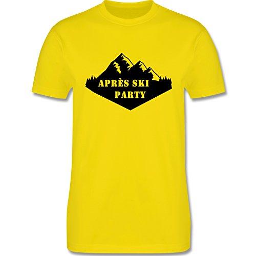 Après Ski - Apres Ski Party - Herren Premium T-Shirt Lemon Gelb
