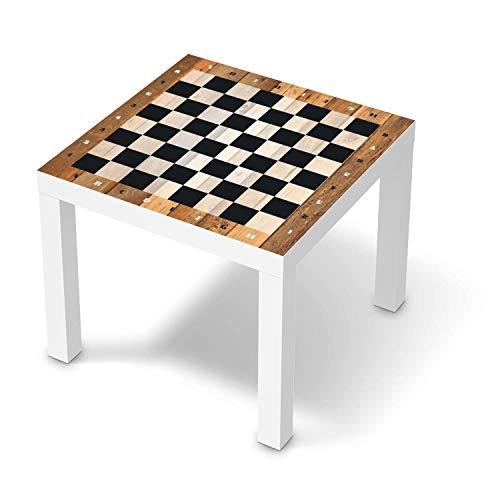 Möbeltattoo passend für IKEA Lack Tisch 55x55 cm I Möbeldekoration - Möbel-Aufkleber Folie Tattoo I Deko DIY für Schlafzimmer, Wohnzimmer - Design: Spieltisch Schach