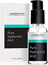YeOUTH Hyaluronic Acid Serum for Face - Clinical Strength Formula Holds 1,000 Times Its Own Weight