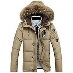 Bubus Chaqueta calefactable, abrigo para hombre, invierno (XXL, Beige)