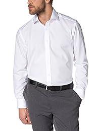 eterna Langarm Hemd Modern Fit Popeline Unifarben