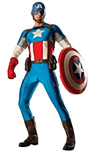 Rubies - Disfraz de Capitán América para hombre, talla L